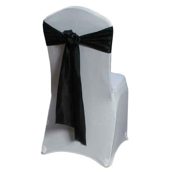 Black Chair Sash Rental - Organza Satin