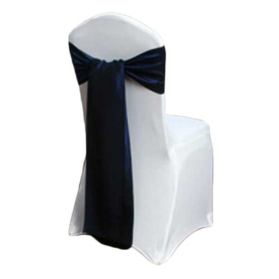 Blue Velvet Chair Sash Rental - Taffeta