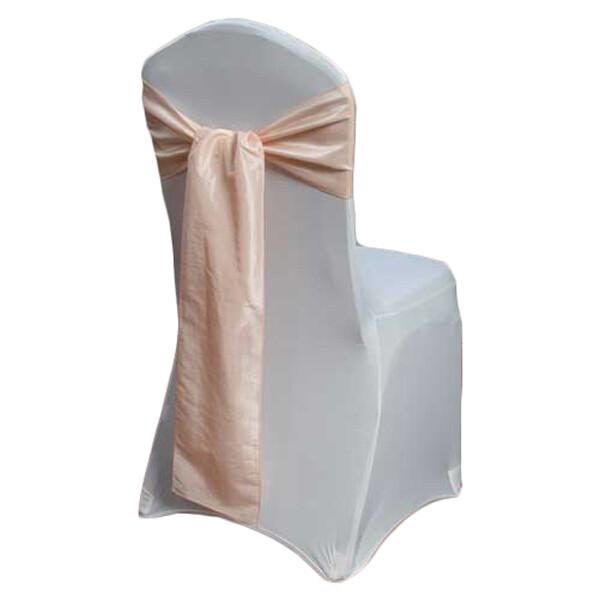 Blush Chair Sash Rental - Taffeta