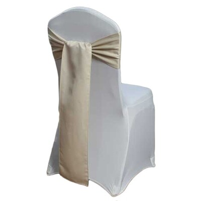 Champagne Matte Satin Chair Sashes
