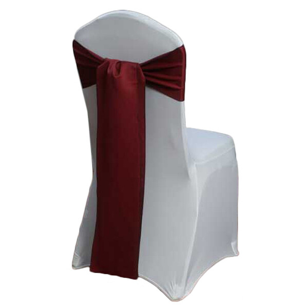 Claret Matte Satin Chair Sashes