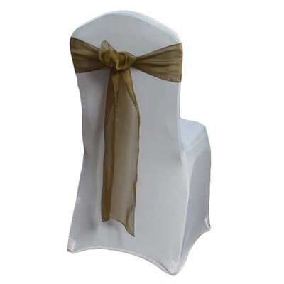 Copper Organza Sheer Sash Rental