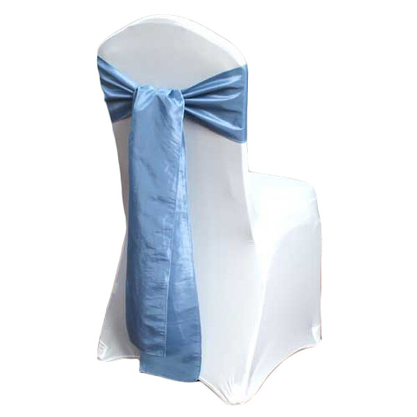 Cornflower Blue Taffeta Chair Sashes