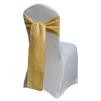 Canary Taffeta Chair Sashes