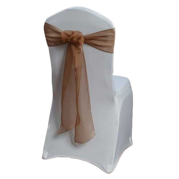 Cinnamon Organza Sheer Sash Rental