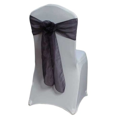 Eggplant Dark Mirror Chair Sashes