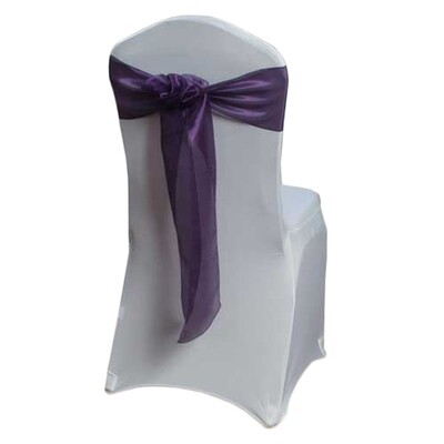 Eggplant Mirror Chair Sashes