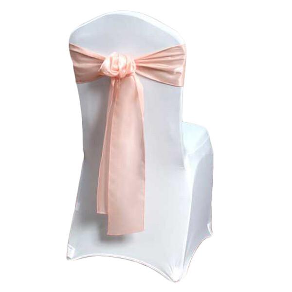 Peach Organza Satin Chair Sashes