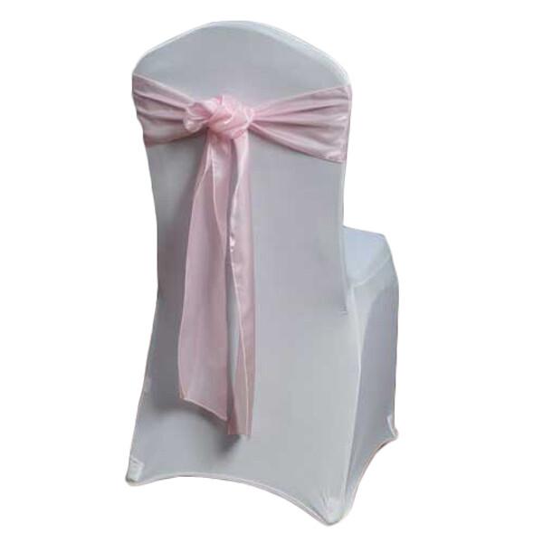 Pink Organza Satin Chair Sashes