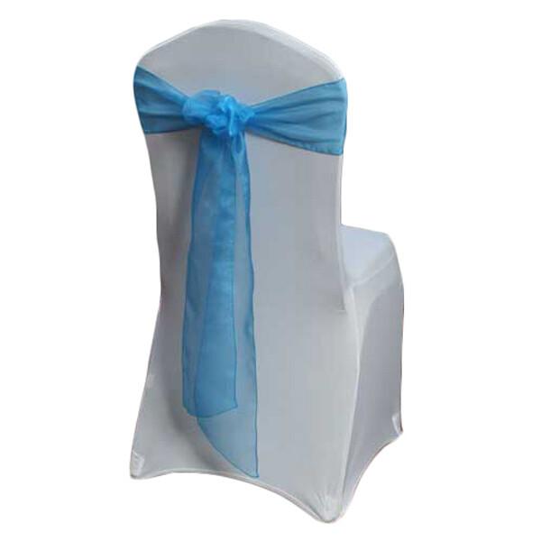 Ocean Blue Organza Sheer Chair Sashes