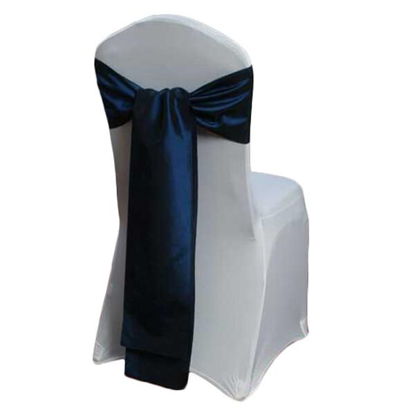Midnight Blue Taffeta Chair Sashes