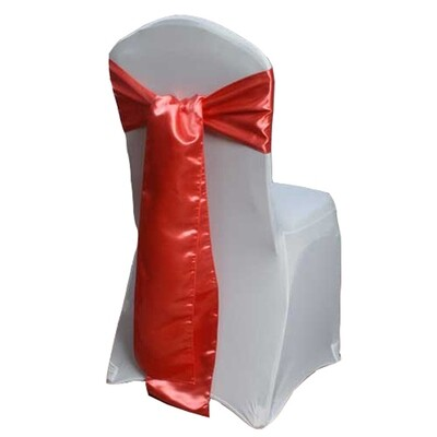 Guava Satin Chair Sashes