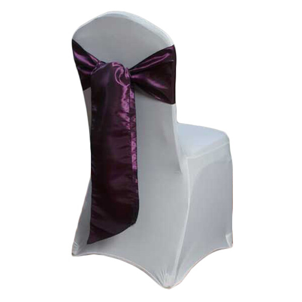 Grape Paradise Taffeta Chair Sashes