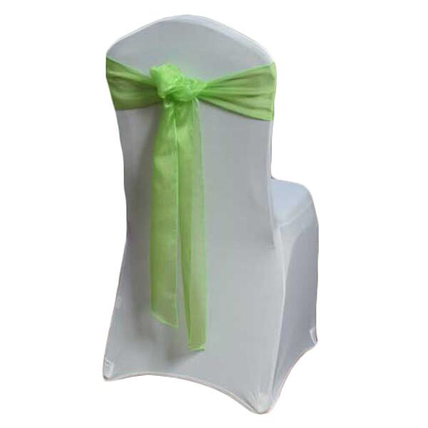 Lime Green Organza Sheer Chair Sashes