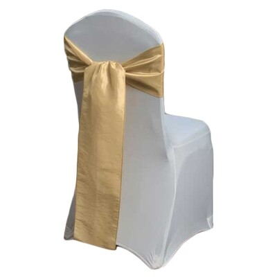Gold Chair Sash Rental - Taffeta