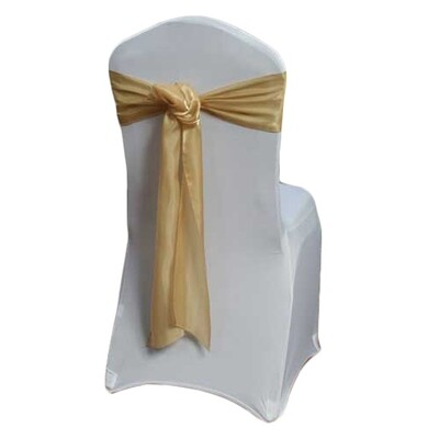 Gold Chair Sash Rental - Organza Satin