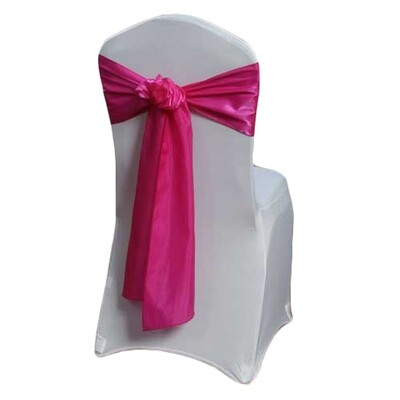 Fuchsia Chair Sash Rental - Organza Satin