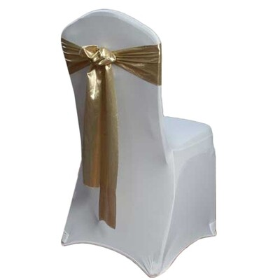 Gold Chair Sash Rental - Lame'