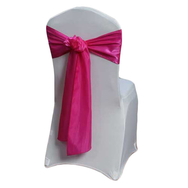 Fuchsia Chair Sash Rental - Organza Satin (Dark)