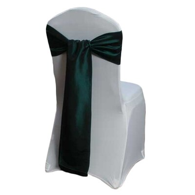 Forest Green Chair Sash Rental - Taffeta
