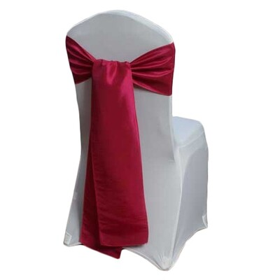Fuchsia Chair Sash Rental - Taffeta
