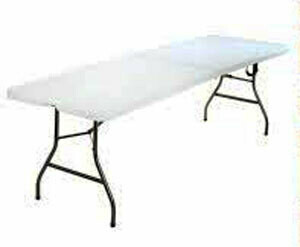 Cosco 8 Foot Rectangle Centerfold Table Rental - Des Moines