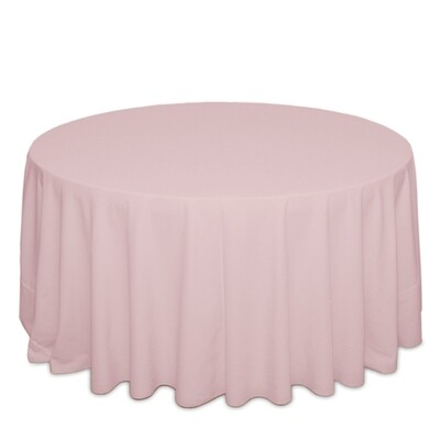 Blush Tablecloth Rentals - Polyester