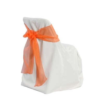 White Folding Chair Cover Rentals