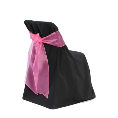 Black Folding Chair Cover Rentals