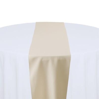Beige Table Runner Rentals - Polyester