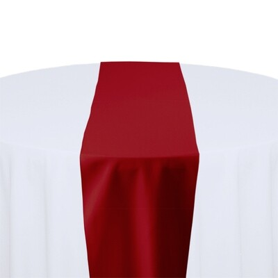 Cherry Red Table Runner Rentals - Polyester