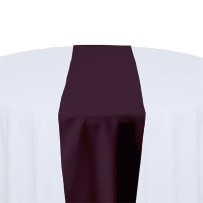 Eggplant Table Runner Rentals - Polyester