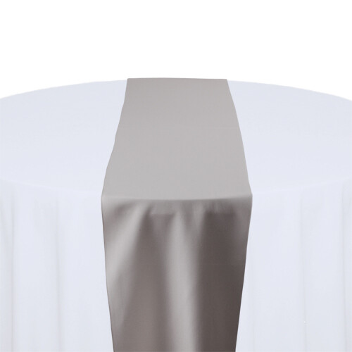 Grey Table Runner Rentals - Polyester