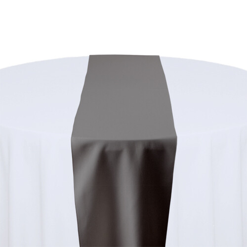 Charcoal Table Runner Rentals - Polyester