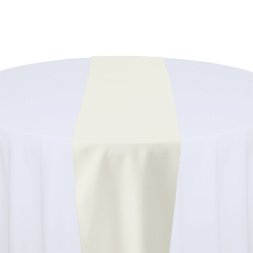 Ivory Table Runner Rentals - Polyester