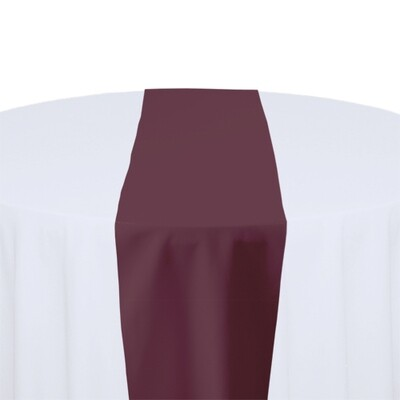 Claret Table Runner Rentals - Polyester