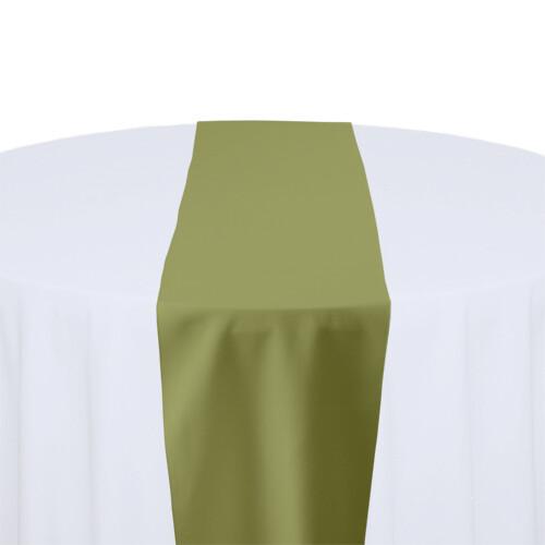 Light Olive Table Runner Rentals - Polyester