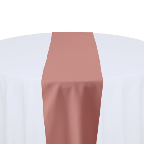 Dusty Rose Table Runner Rentals - Polyester