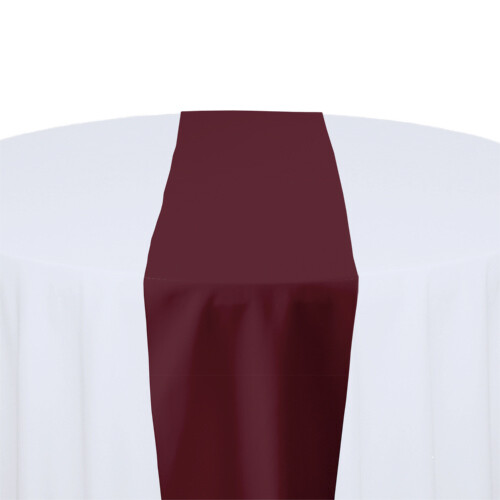 Burgundy Table Runner Rentals - Polyester