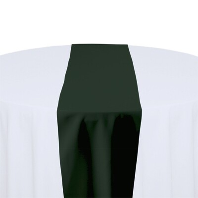 Forest Green Table Runner Rentals - Polyester