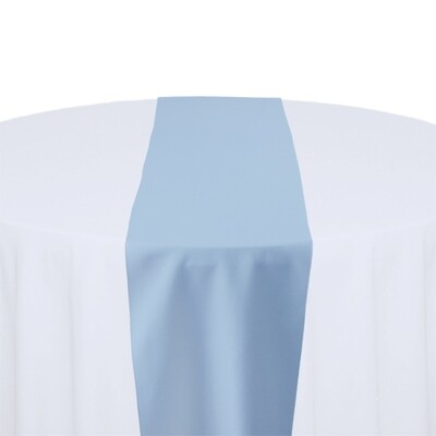 Light Blue Table Runner Rentals - Polyester