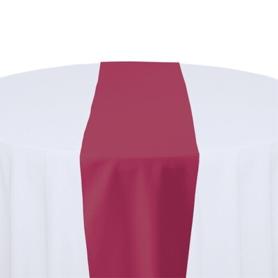 Hot Pink Table Runner Rentals - Polyester