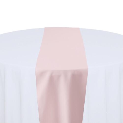 Light Pink Table Runner Rentals - Polyester