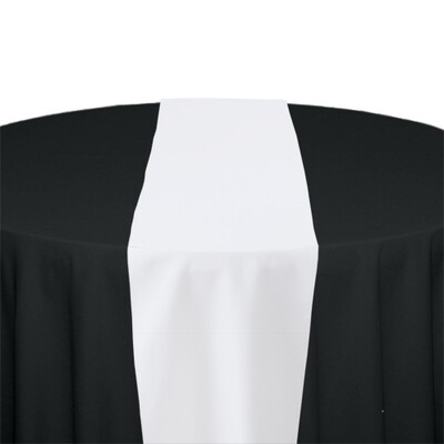 White Table Runner Rentals - Polyester