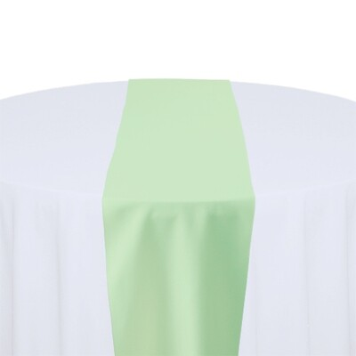 Mint Green Table Runner Rentals - Polyester