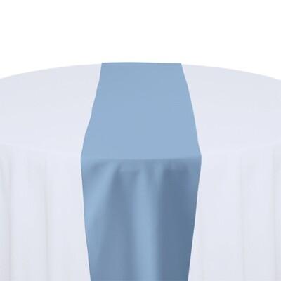 Powder Blue Table Runner Rentals - Polyester