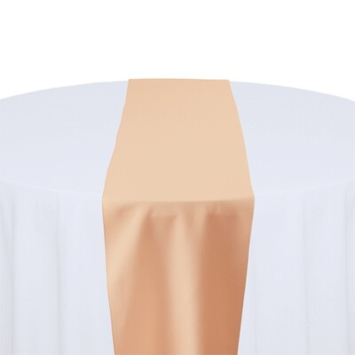 Peach Table Runner Rentals - Polyester