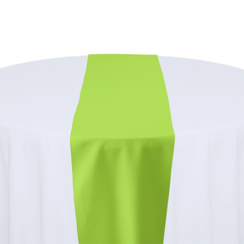 Lime Green Table Runner Rentals - Polyester