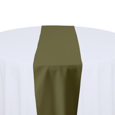 Olive Table Runner Rentals - Polyester