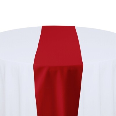 Red Table Runner Rentals - Polyester